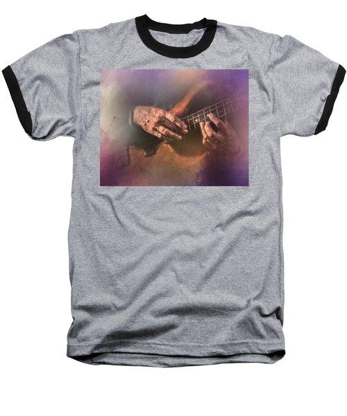 Play Me Some Blues Baseball T-Shirt by David and Carol Kelly