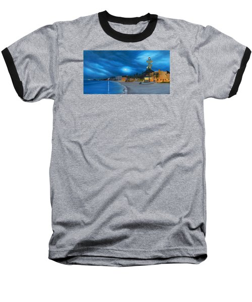 Playa De Noche Baseball T-Shirt by Angel Ortiz