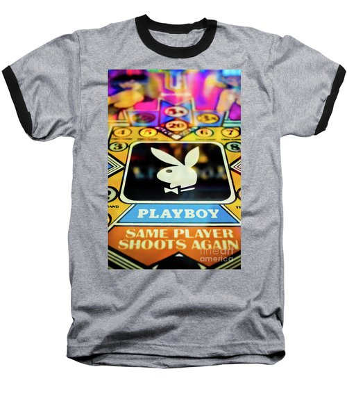 Baseball T-Shirt featuring the photograph Playboy Pinball by Colleen Kammerer
