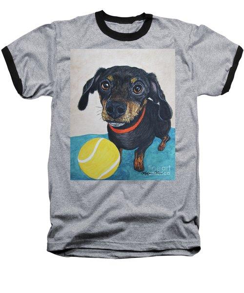 Playful Dachshund Baseball T-Shirt