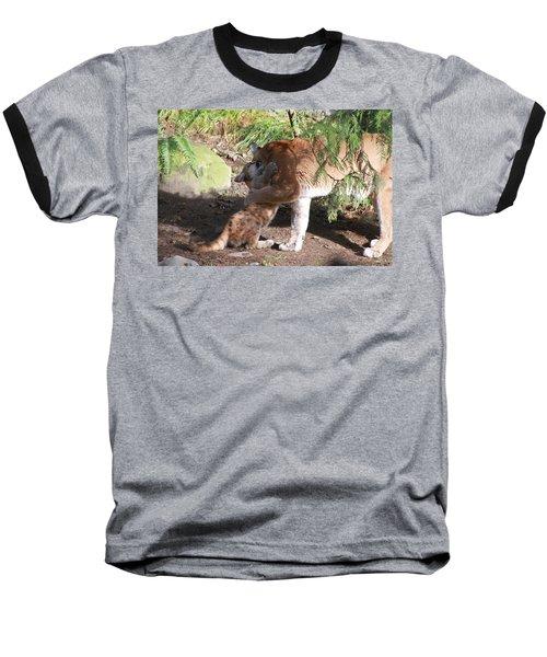 Baseball T-Shirt featuring the photograph Playful Hugs by Laddie Halupa