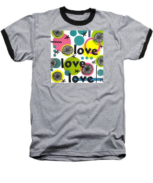 Playful Love Baseball T-Shirt by Gloria Rothrock