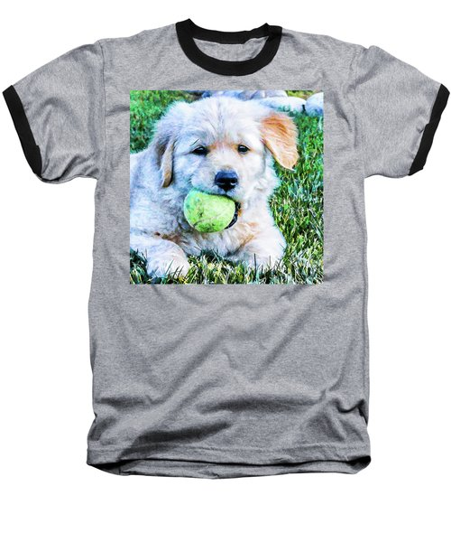 Playful Pup Baseball T-Shirt