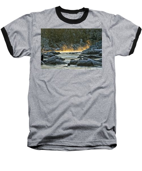 Playfull Mist Baseball T-Shirt by Robert Charity