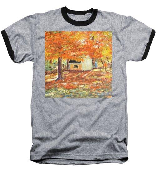 Playhouse In Autumn Baseball T-Shirt