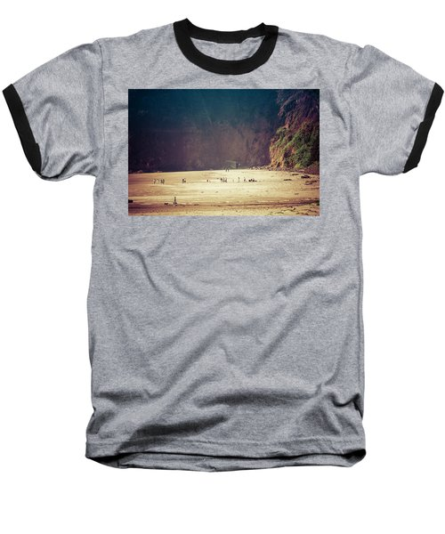 Playing Along Oceanside Oregon Baseball T-Shirt by Amyn Nasser