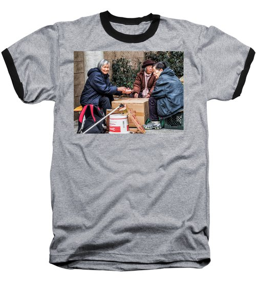 Playing Cards In Chinatown Baseball T-Shirt