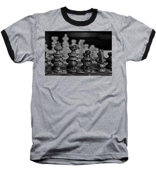 Playing Chess 2 Baseball T-Shirt by Cendrine Marrouat