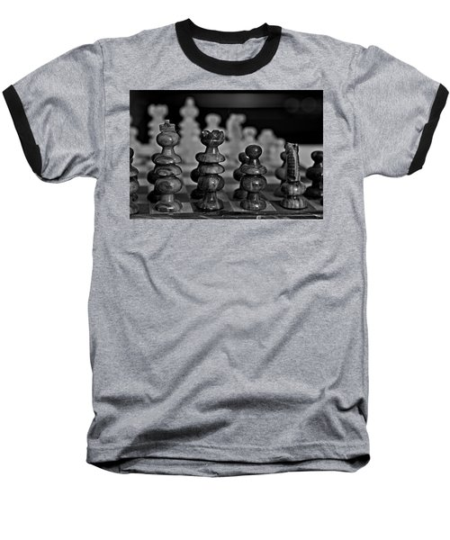 Baseball T-Shirt featuring the photograph Playing Chess 2 by Cendrine Marrouat