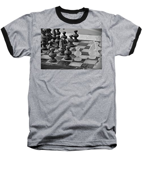 Baseball T-Shirt featuring the photograph Playing Chess by Cendrine Marrouat