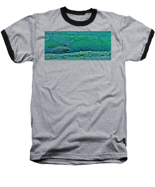 Playing In The Shore Break Baseball T-Shirt by Craig Wood