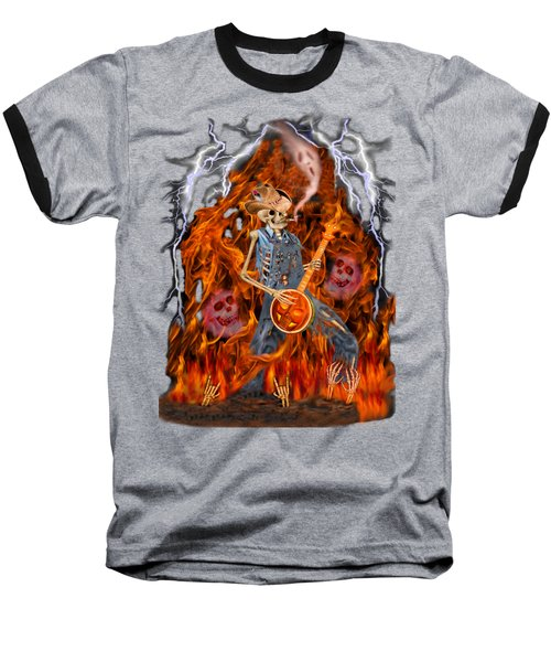 Playing With Fire Baseball T-Shirt by Glenn Holbrook