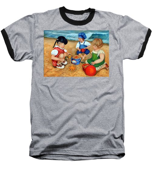 Playtime At The Beach Baseball T-Shirt