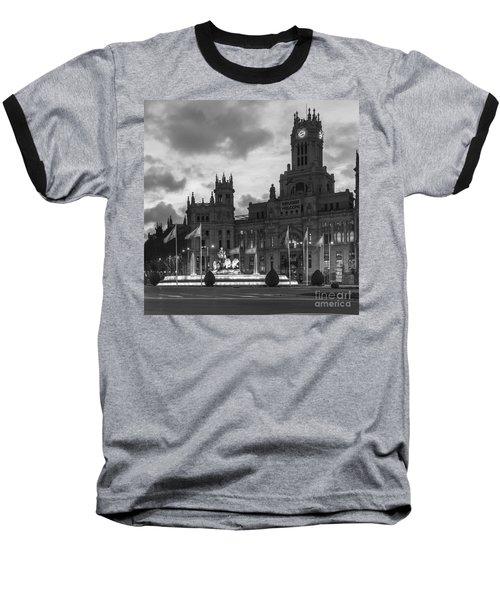Plaza De Cibeles Fountain Madrid Spain Baseball T-Shirt