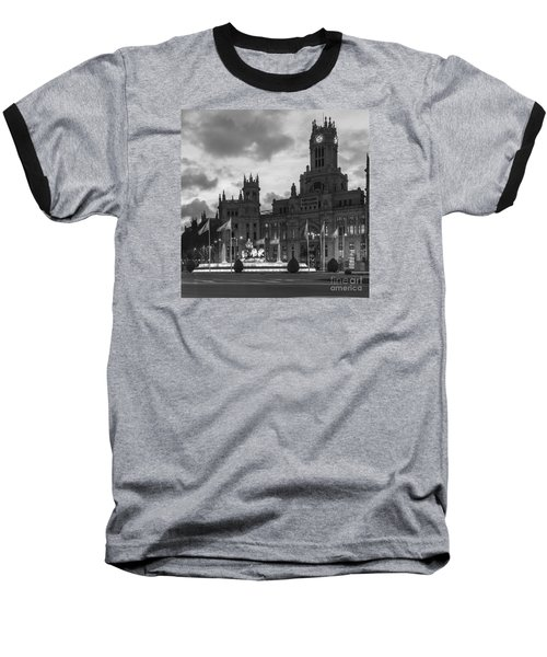 Plaza De Cibeles Fountain Madrid Spain Baseball T-Shirt