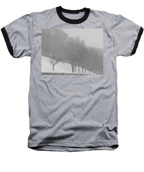 Plaza Impressionism With Kc Snow Baseball T-Shirt