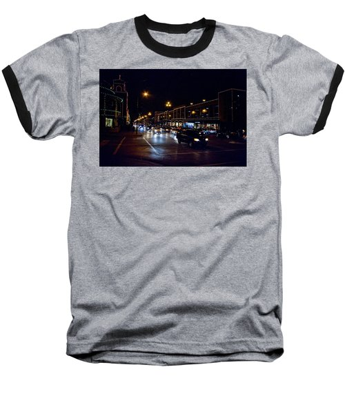 Baseball T-Shirt featuring the photograph Plaza Lights by Jim Mathis