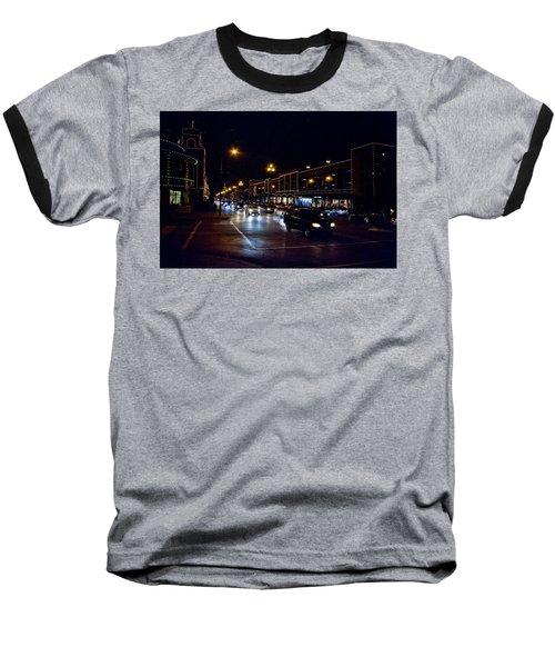 Plaza Lights Baseball T-Shirt