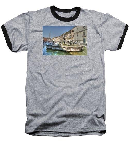 Plaza Navona Rome Baseball T-Shirt