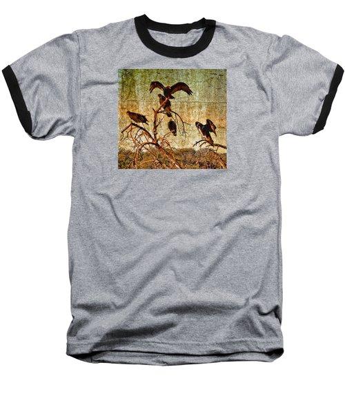 Baseball T-Shirt featuring the photograph Pleasanton Vultures by Steve Siri