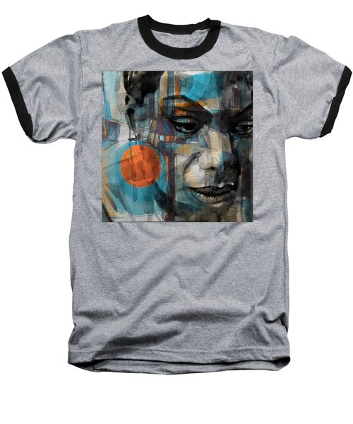 Baseball T-Shirt featuring the mixed media Please Don't Let Me Be Misunderstood by Paul Lovering