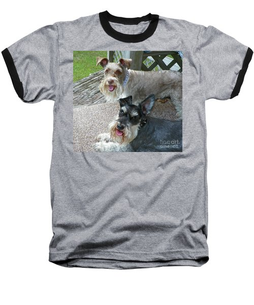 Baseball T-Shirt featuring the photograph Please Help Us Catch That Squirrel by Carol  Bradley