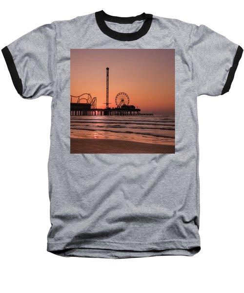 Pleasure Pier At Sunrise Baseball T-Shirt
