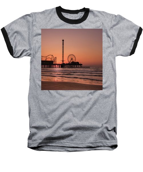Pleasure Pier At Sunrise Baseball T-Shirt