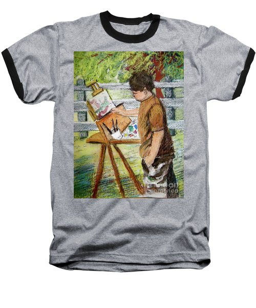 Plein-air Painter Boy Baseball T-Shirt