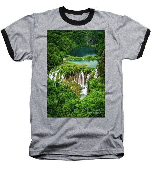 Plitvice Lakes National Park - A Heavenly Crystal Clear Waterfall Vista, Croatia Baseball T-Shirt