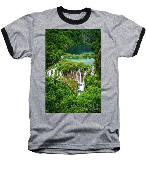 Plitvice Lakes National Park - A Heavenly Crystal Clear Waterfall Vista, Croatia Baseball T-Shirt