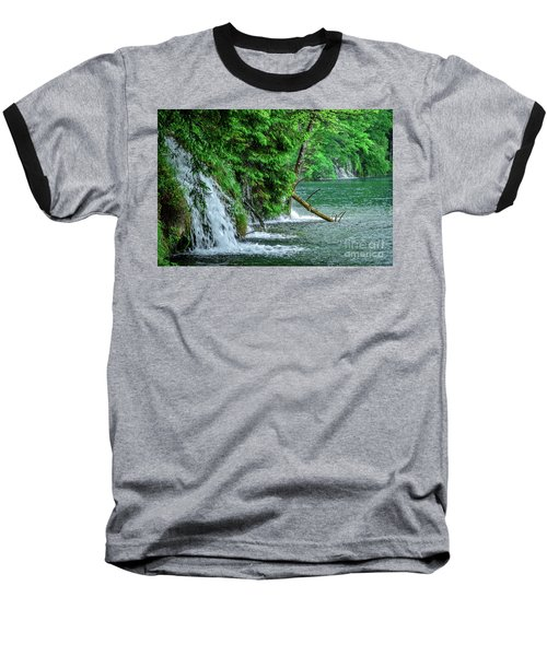 Plitvice Lakes National Park, Croatia - The Intersection Of Upper And Lower Lakes Baseball T-Shirt