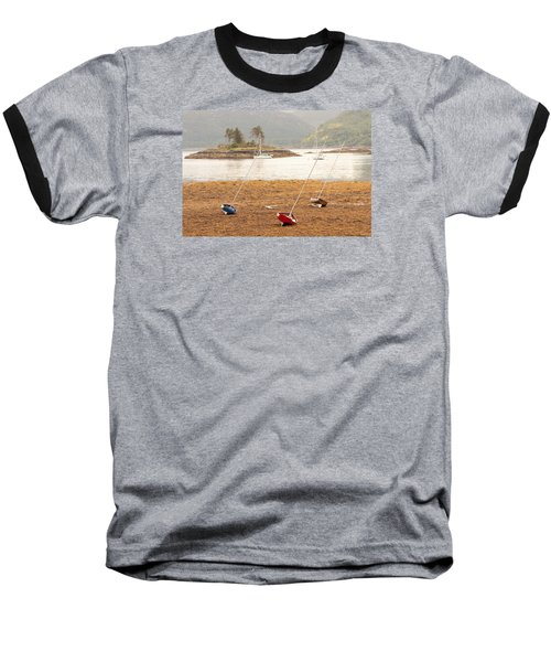 Plockton Sailboats Baseball T-Shirt