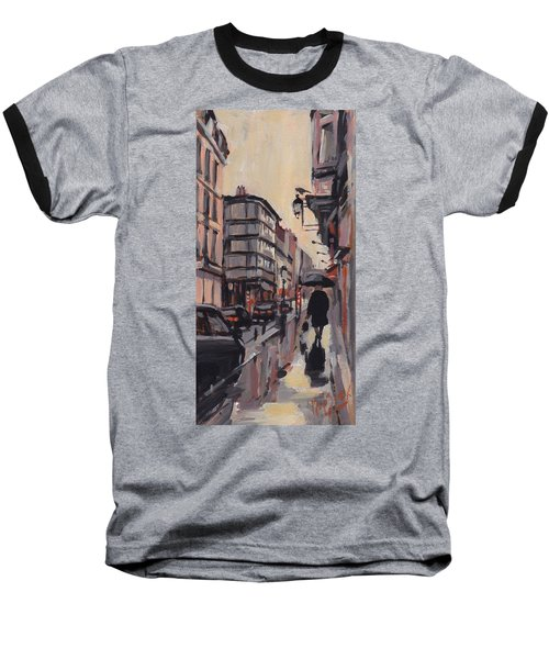 Pluie Rue De Regence Liege Baseball T-Shirt
