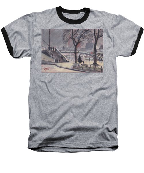 Pluie Sur Le Pont Passarelle Liege Baseball T-Shirt