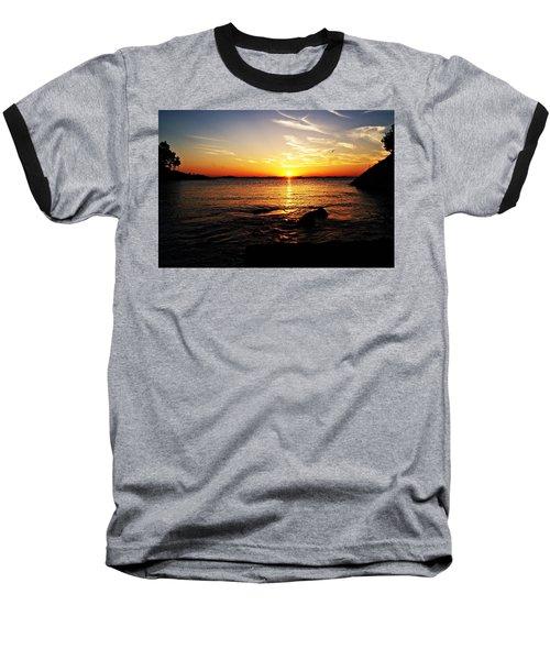 Plum Cove Beach Sunset G Baseball T-Shirt