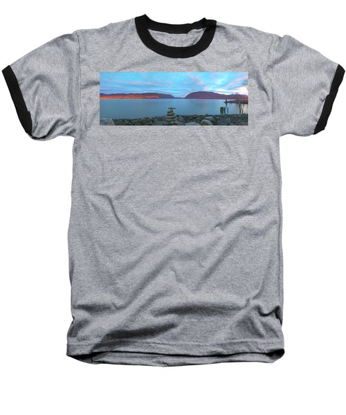 Plum Point Sunset Panorama Baseball T-Shirt by Angelo Marcialis