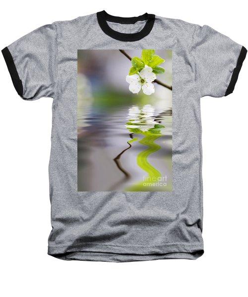 Plum Tree Blooming Baseball T-Shirt