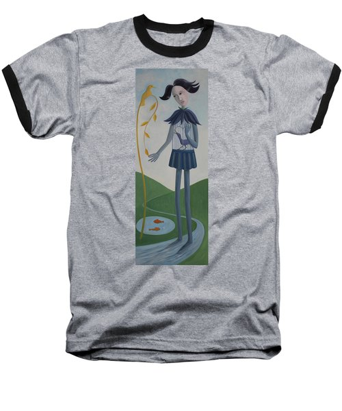 Baseball T-Shirt featuring the painting Plume by Tone Aanderaa