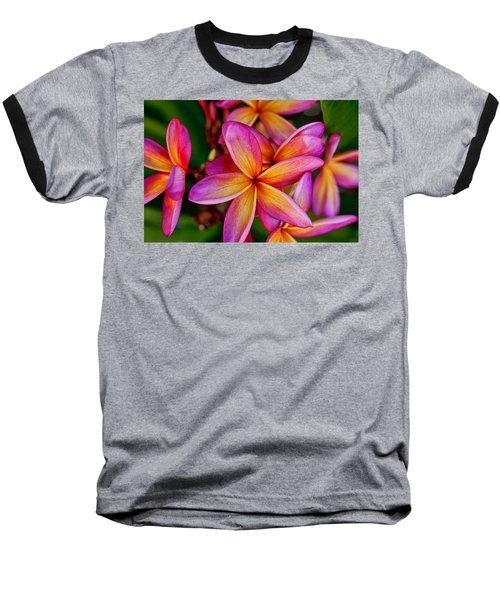 Plumeria Baseball T-Shirt by Dan McManus