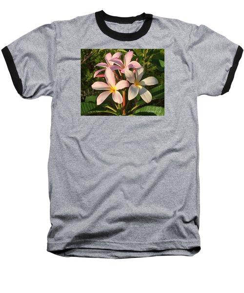 Plumeria Heaven Baseball T-Shirt by LeeAnn Kendall