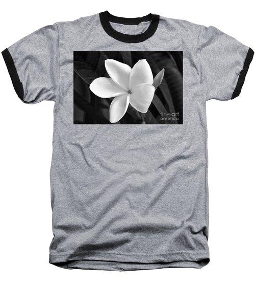 Plumeria In Monochrome Baseball T-Shirt