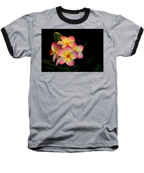 Plumeria Baseball T-Shirt