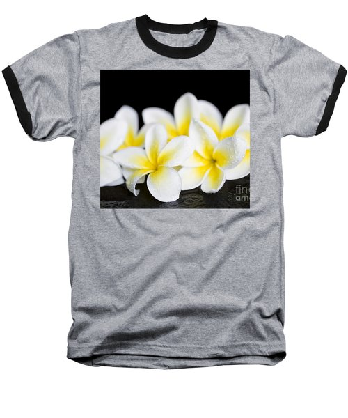 Baseball T-Shirt featuring the photograph Plumeria Obtusa Singapore White by Sharon Mau