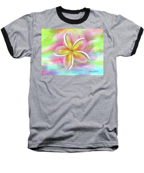 Plumeria Paradise Baseball T-Shirt