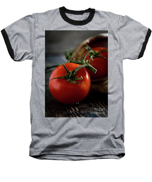 Plump Red Tomatoes Baseball T-Shirt