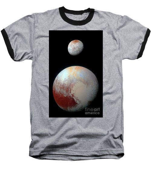 Baseball T-Shirt featuring the photograph Pluto And Charon by Nicholas Burningham
