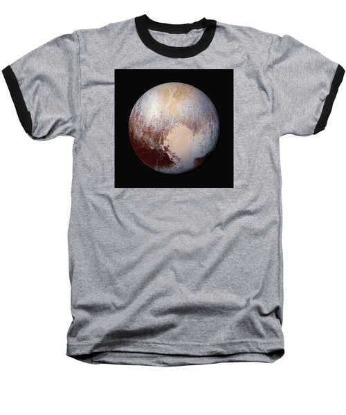 Pluto Dazzles In False Color - Square Crop Baseball T-Shirt by Nasa