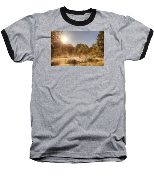 Plying Steamy Waters Baseball T-Shirt by Robert Charity