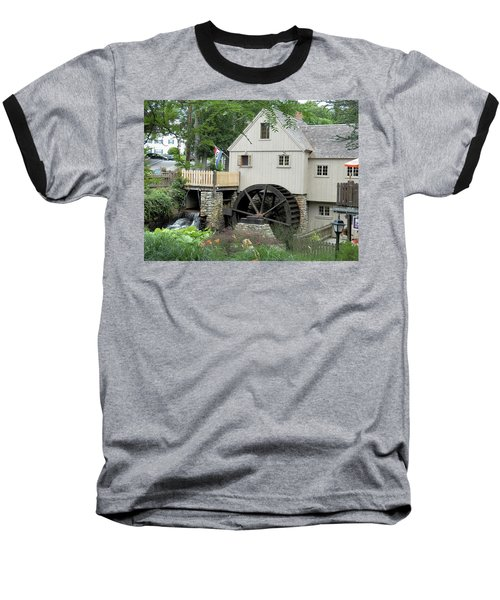 Plymouth Grist Mill Baseball T-Shirt